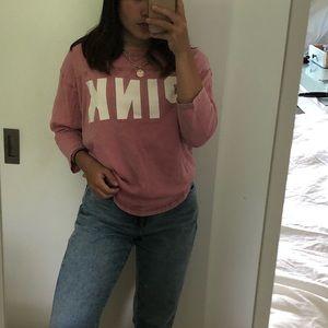 PINK, pink t shirt
